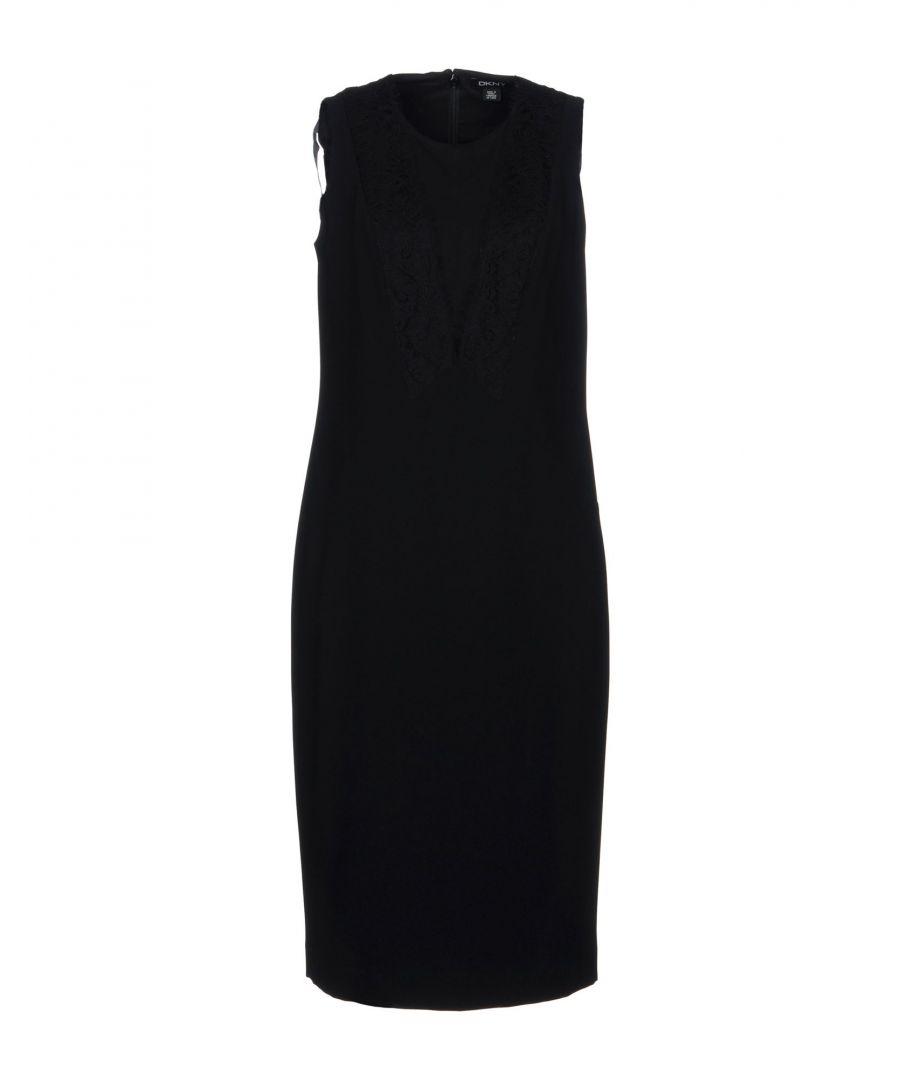 Image for DKNY Black Lace Sleeveless Dress