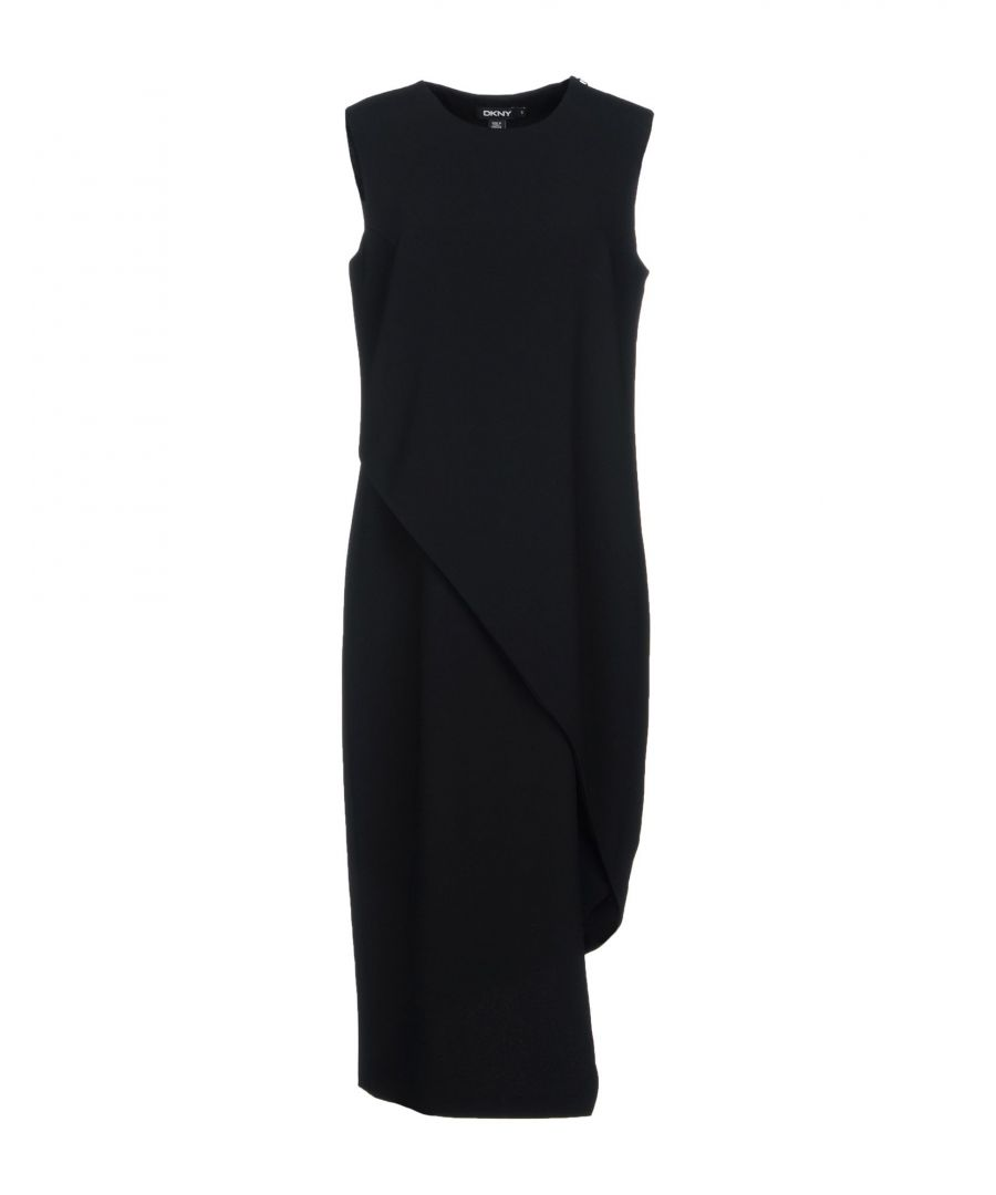 Image for DKNY Black Crepe Sleeveless Dress