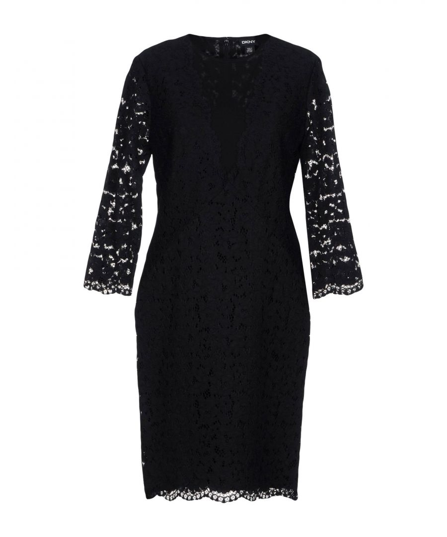 Image for DRESSES Dkny Black Woman Cotton