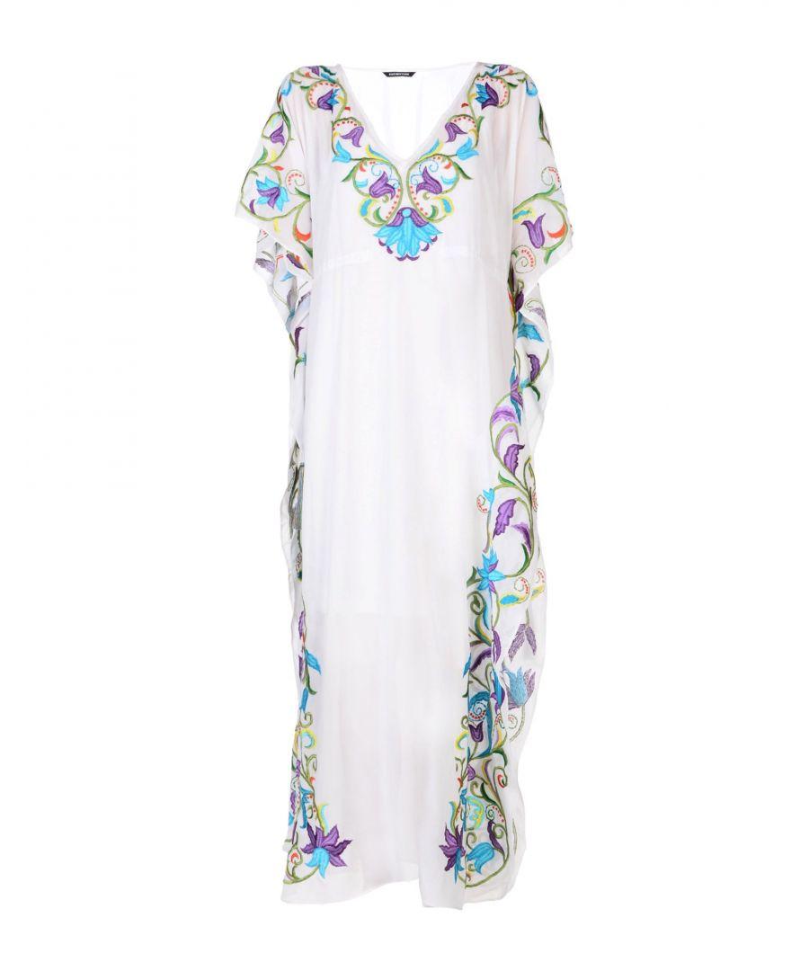 Image for Kas New York White Embroidered Detail Kaftan Dress