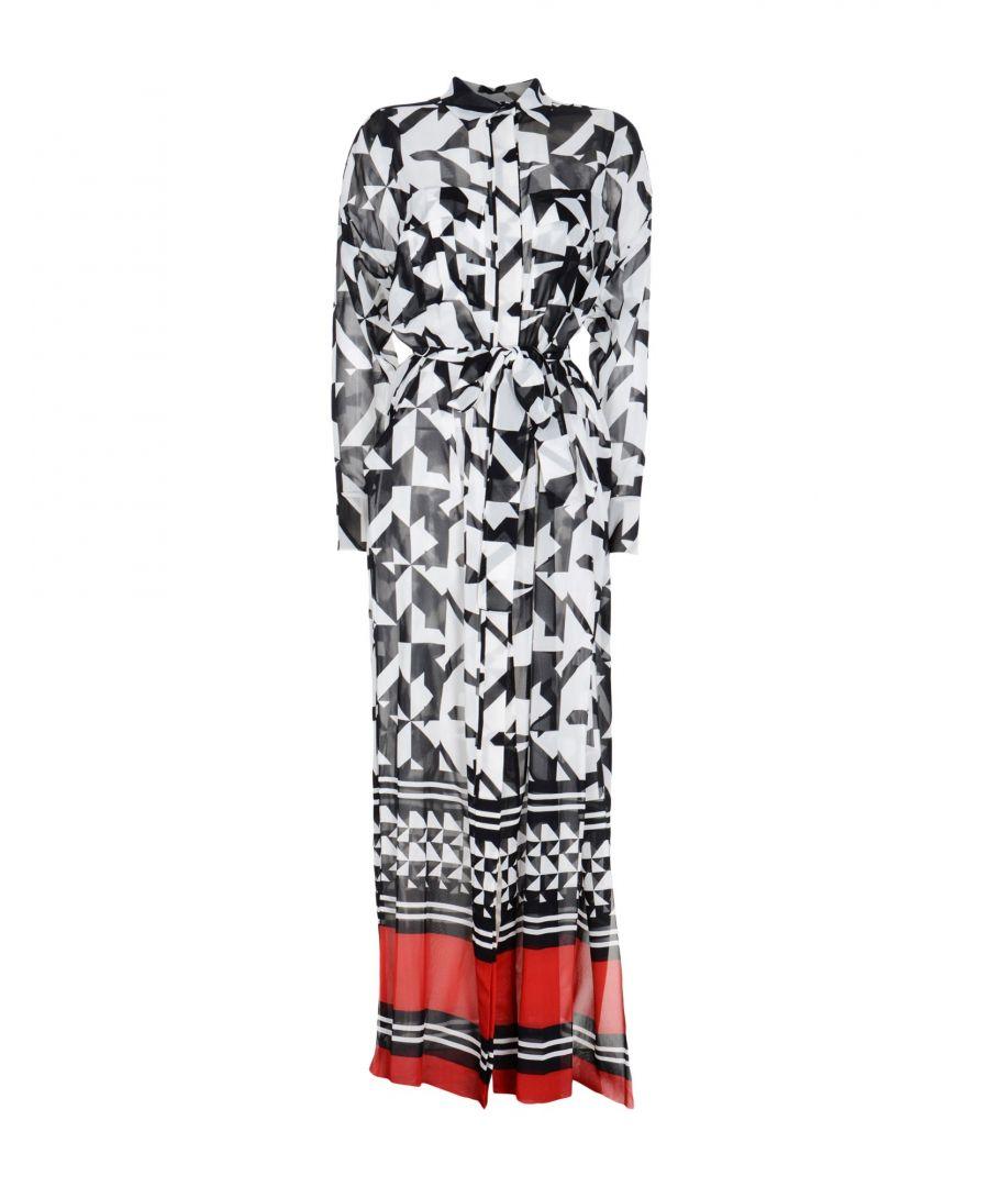 Image for Alexandre Vauthier Black Print Silk Shirt Dress