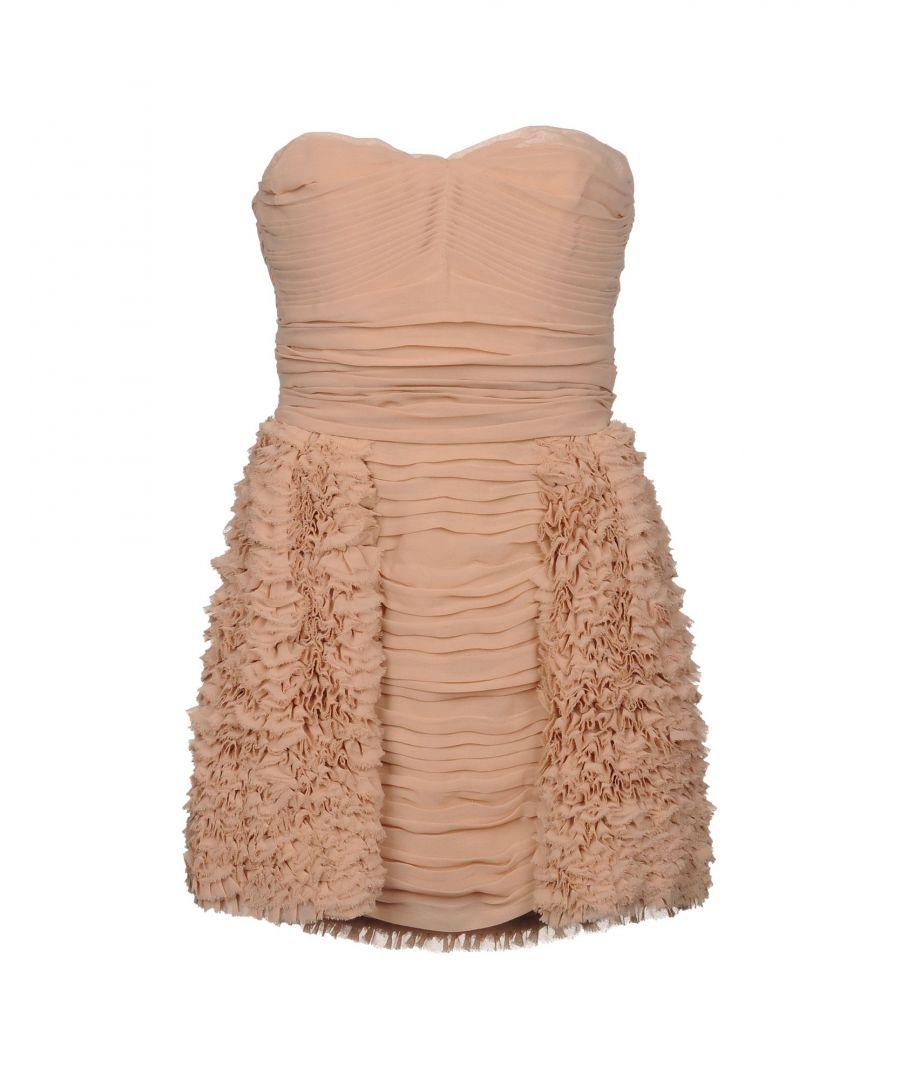 Image for Elisabetta Franchi Gold Pale Pink Ruffled Strapless Dress