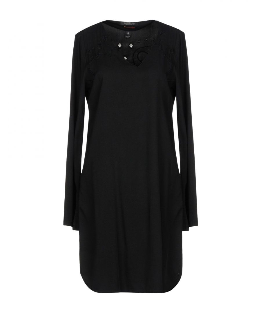 Image for Maison Scotch Black Embroidered Long Sleeve Dress