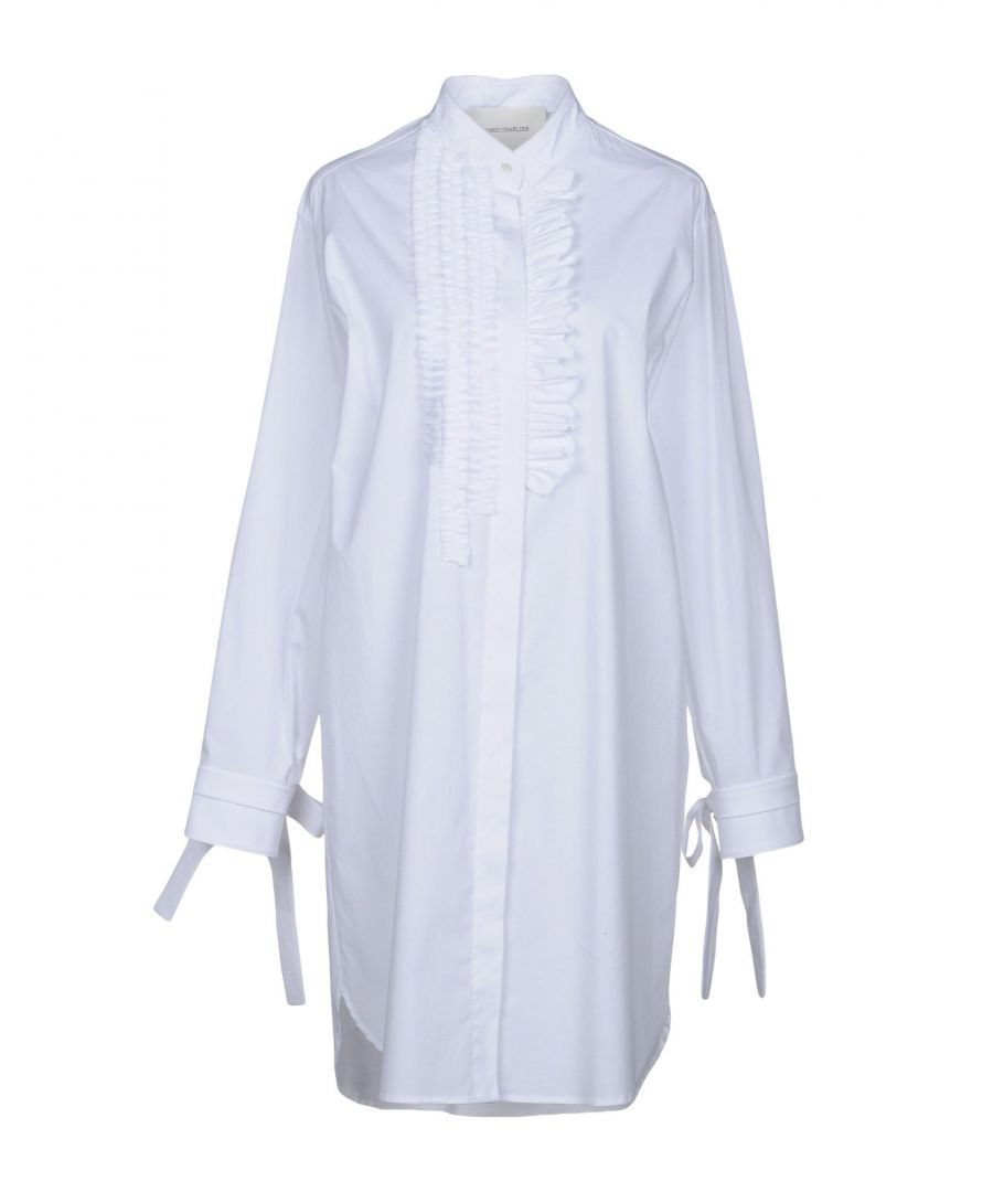 Image for DRESSES Cedric Charlier White Woman Cotton