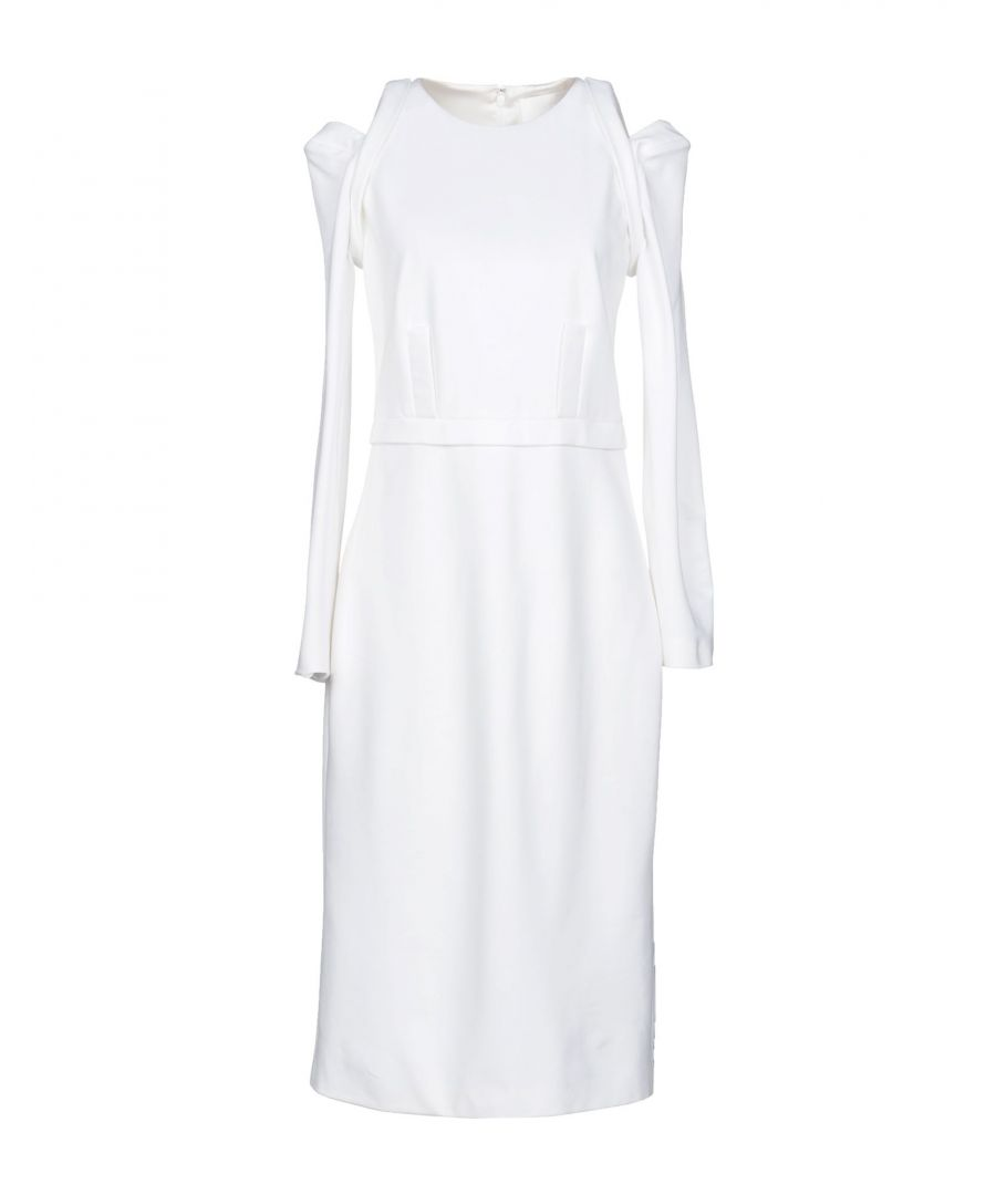 Image for Cushnie White Viscose Knee Length Dress