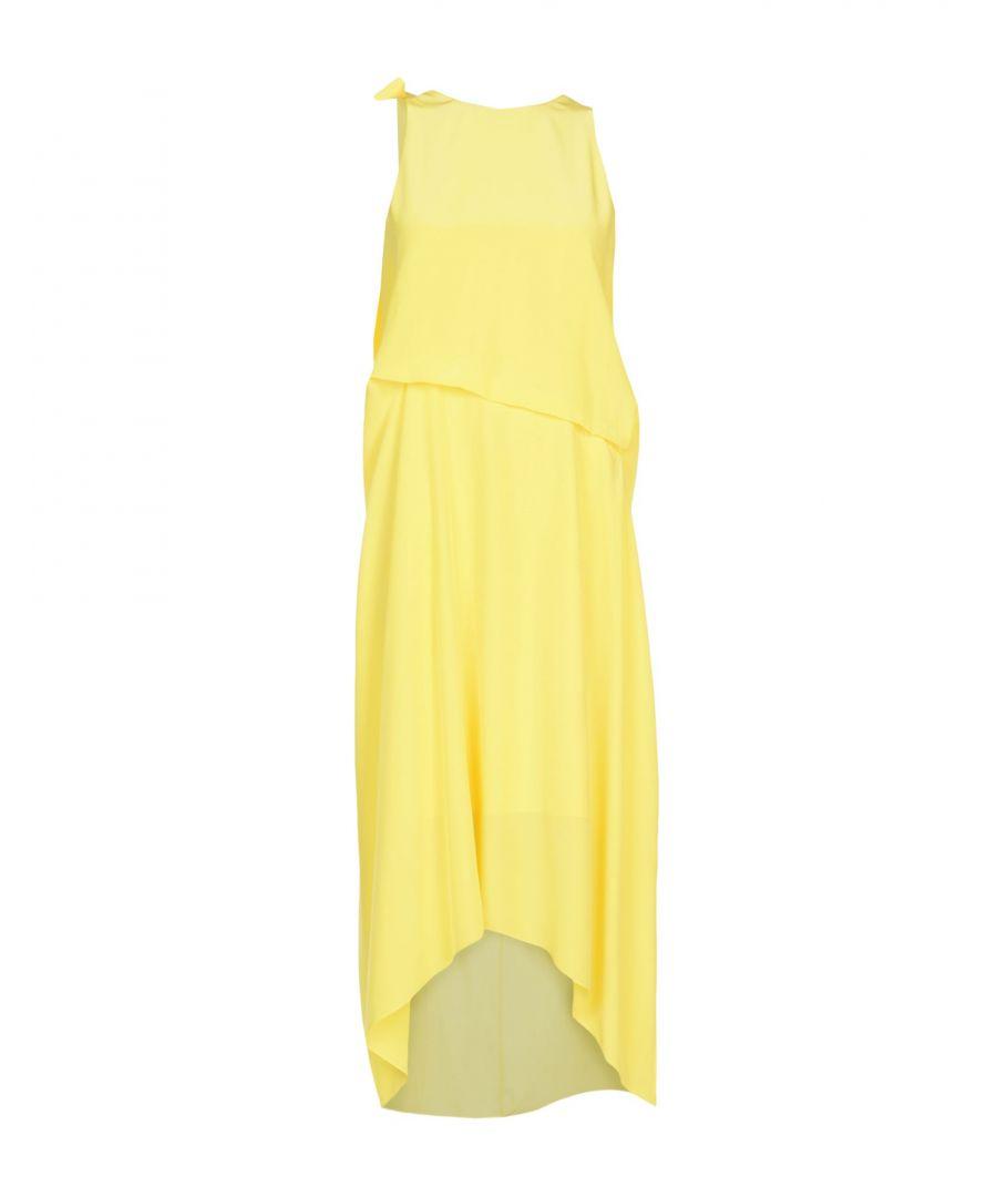 Image for Cedric Charlier Yellow Silk Dress