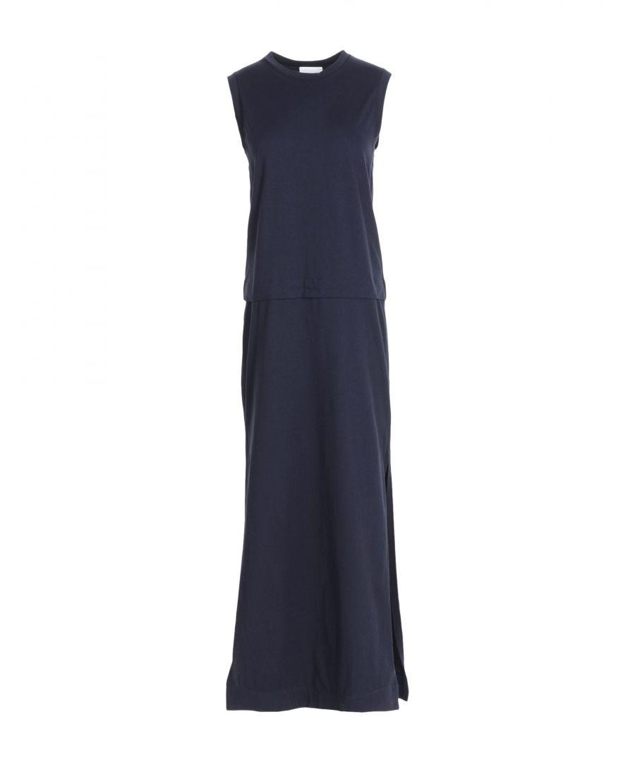 Image for DKNY Dark Blue Cotton Full Length Dress