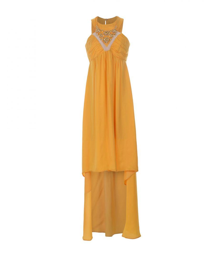 Image for Annarita N Yellow Satin Sleeveless Dress