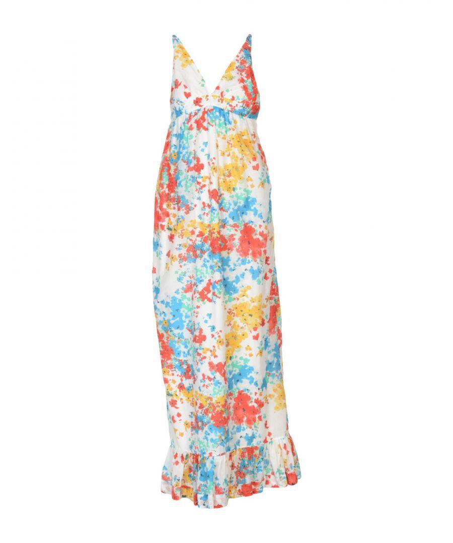 Image for Pinko White Print Cotton Full Length Dress