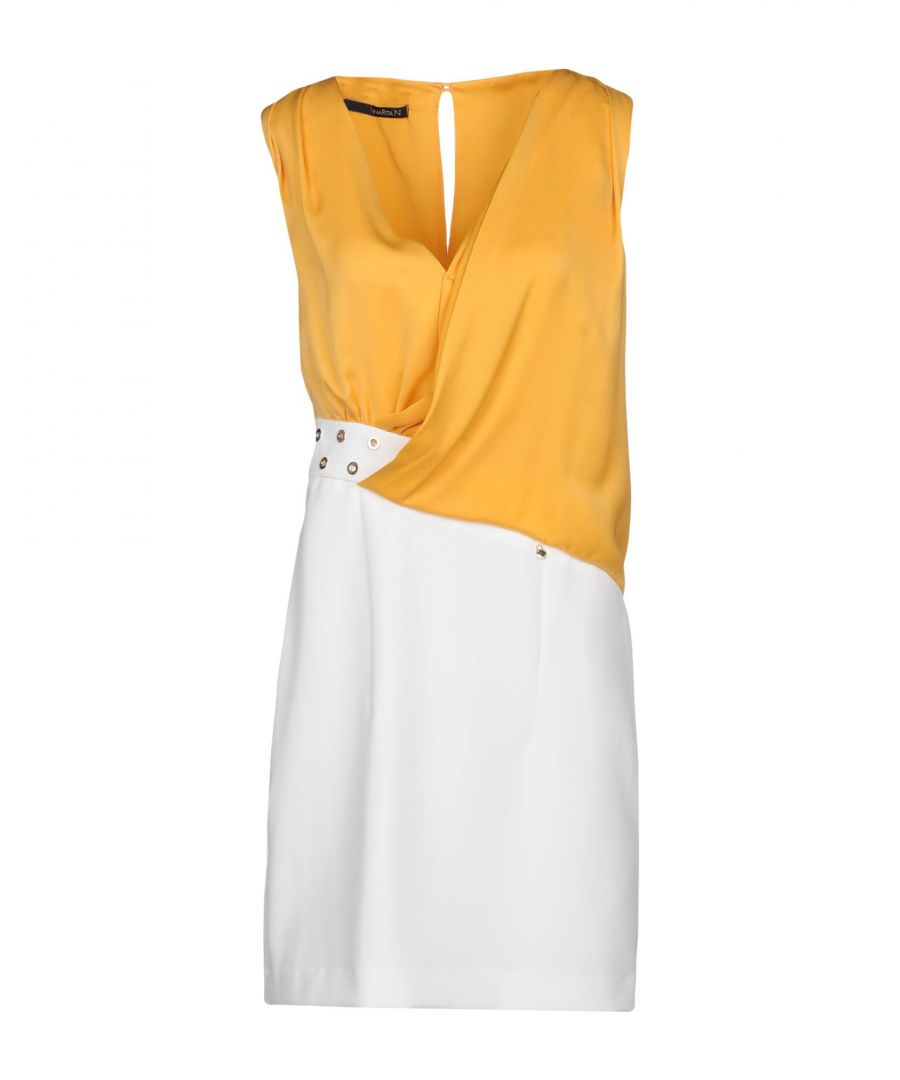 Image for Annarita N Yellow Contrast Pencil Style Dress