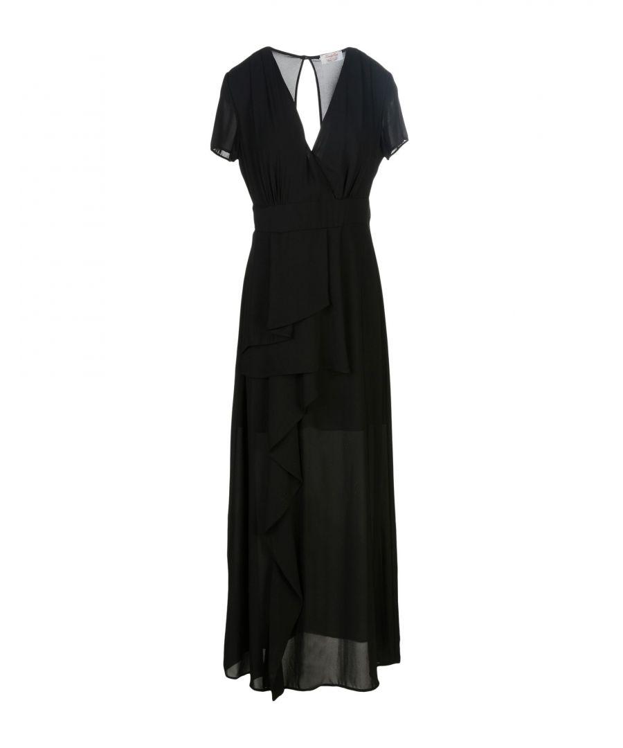 Image for Twenty Easy By Kaos Black Plunge Neckline Full Length Dress
