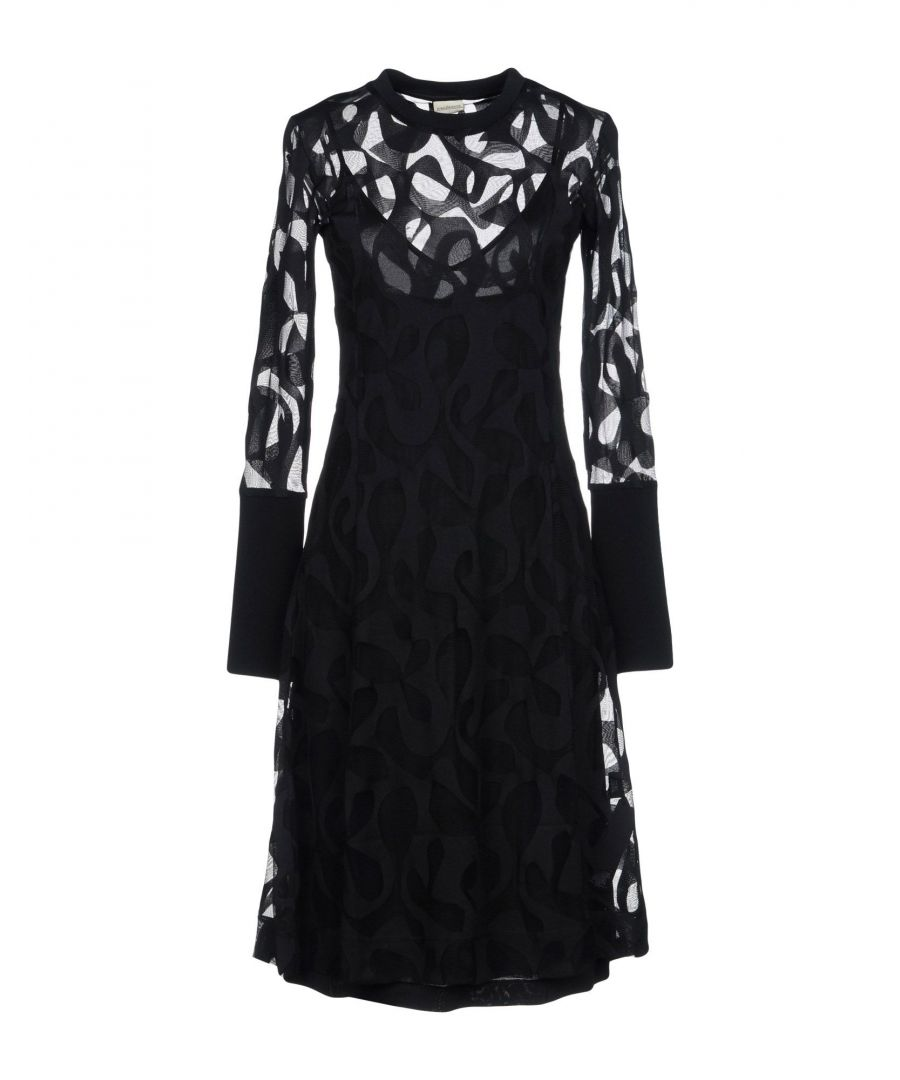 Image for By Malene Birger Black Tulle And Jersey Long Sleeve Dress