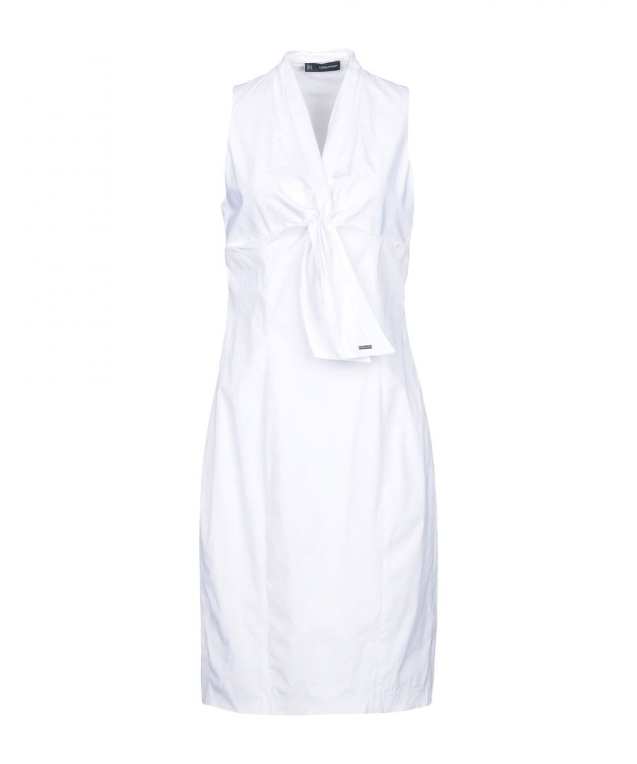 Image for Dsquared2 White Cotton Sleeveless Dress