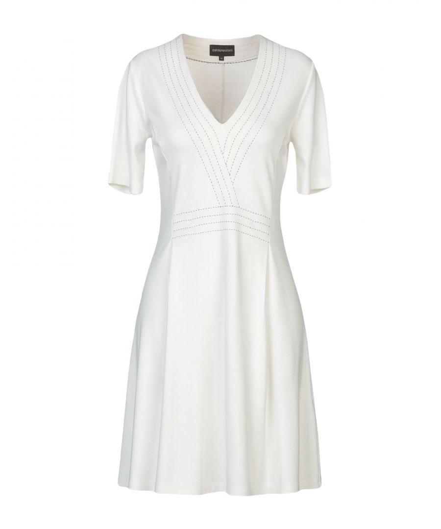 Image for Emporio Armani White Jersey Short Sleeve Dress