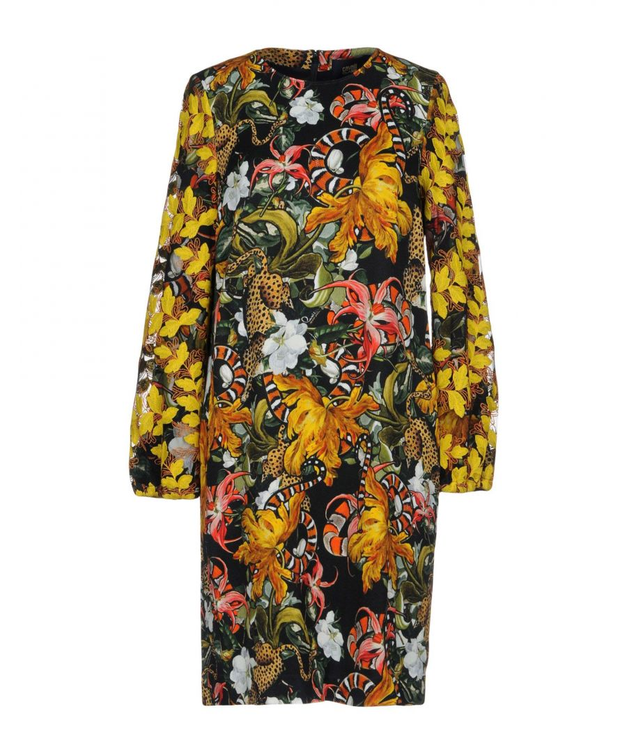 Image for Cavalli Class Green Print Long Sleeve Dress