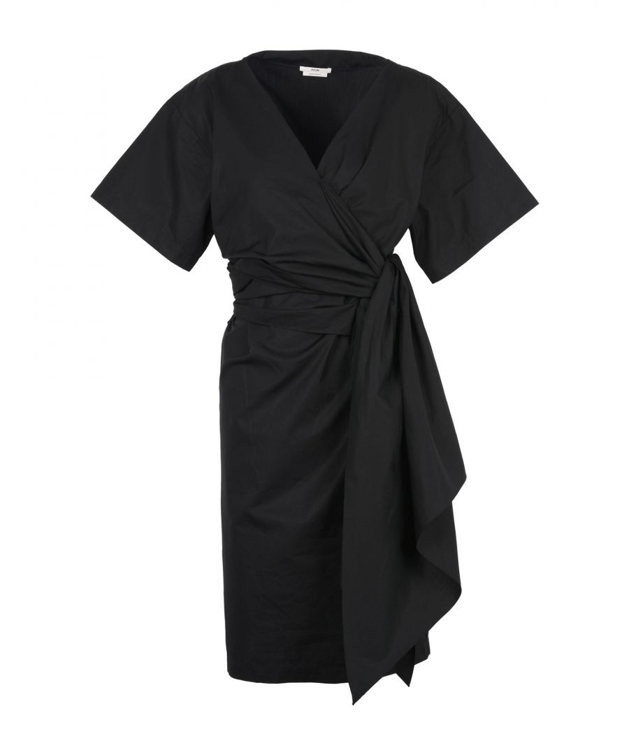 Image for Edun Black Cotton Midi Dress