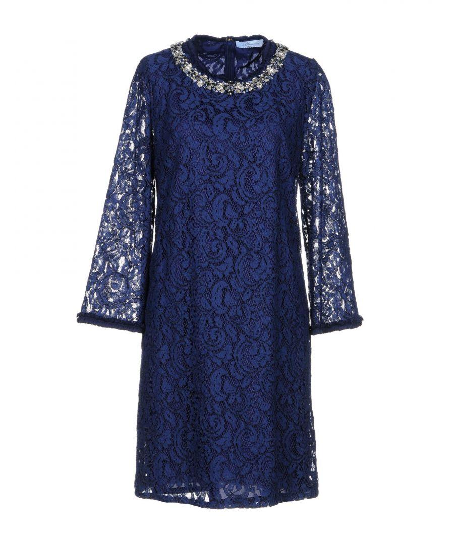Image for Blumarine Dark Blue Lace And Embellished Dress