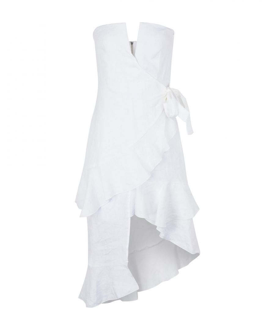 Image for Bec & Bridge White Linen Strapless Dress
