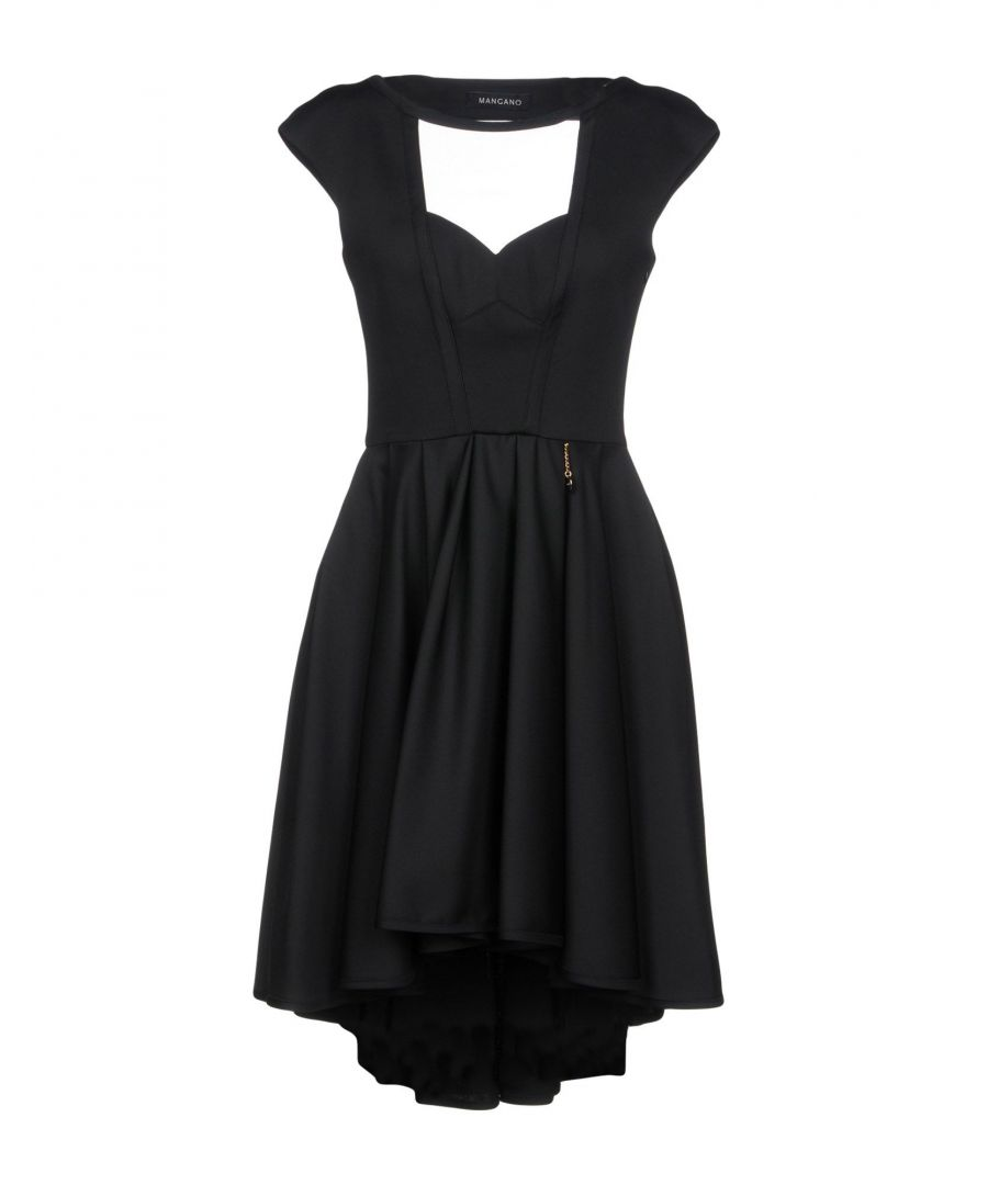 Image for Mangano Black Tulle And Crepe Dress