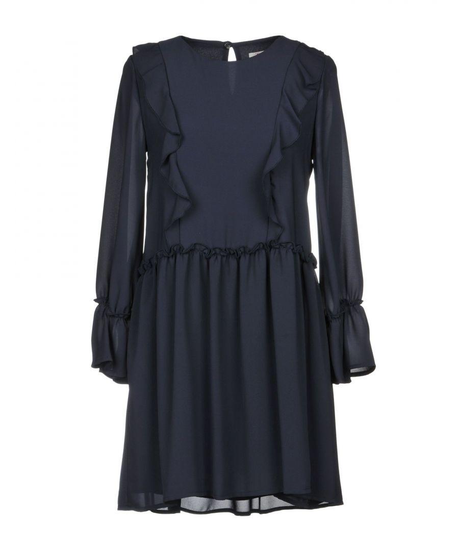 Image for Twenty Easy By Kaos Dark Blue Ruffle Long Sleeve Dress