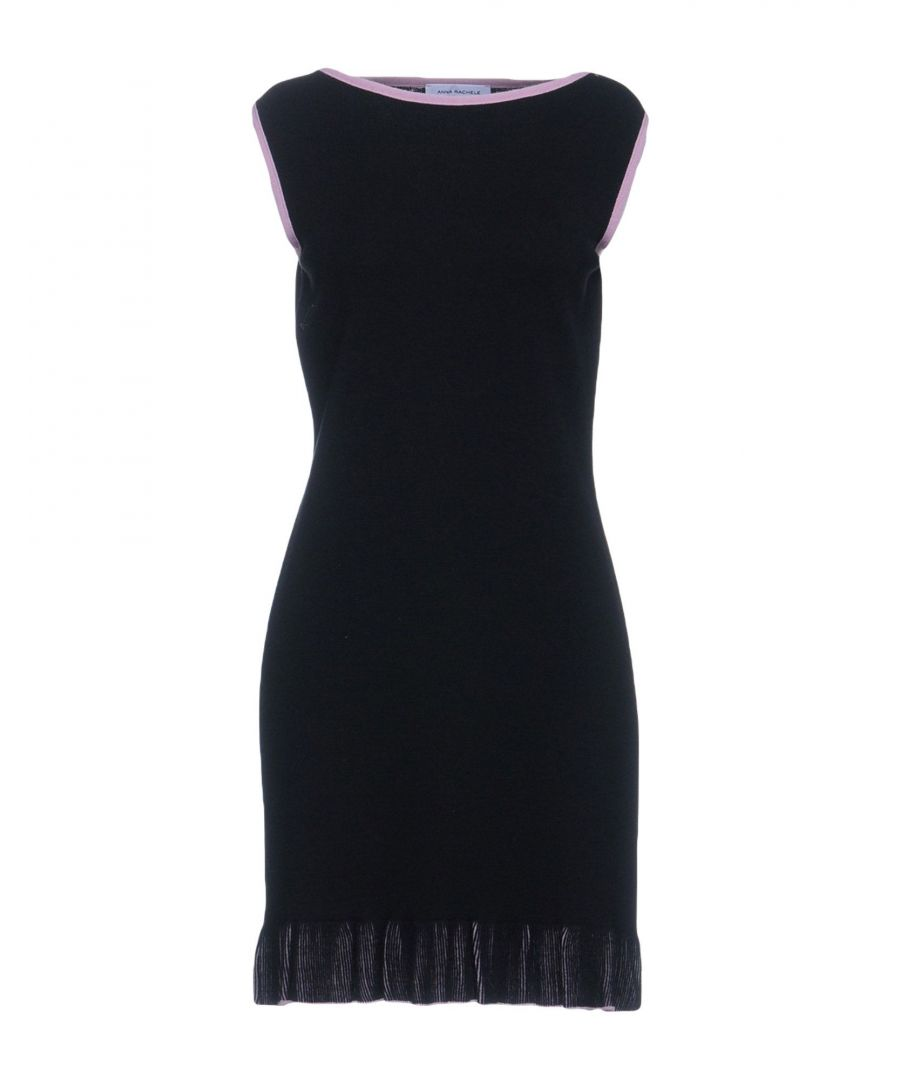 Image for Anna Rachele Black Wool Sleeveless Dress
