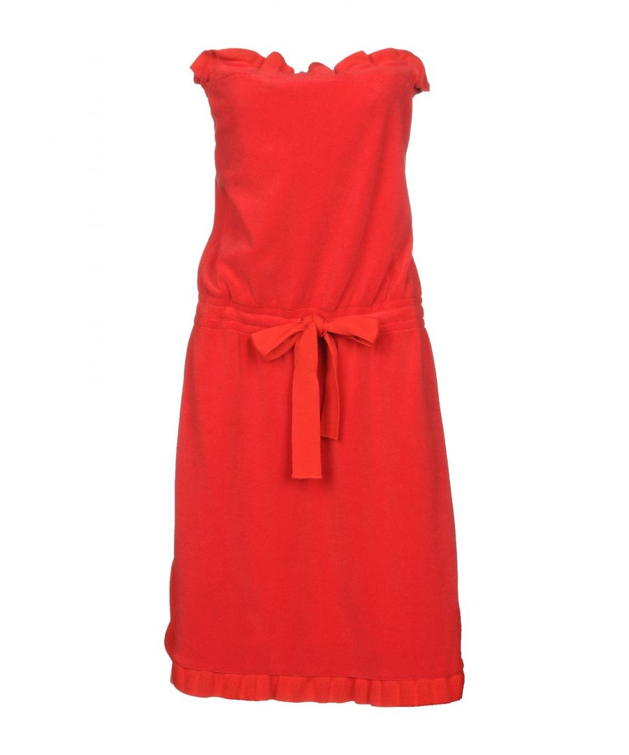 Image for Sonia Rykiel Red Cotton Terry Dress