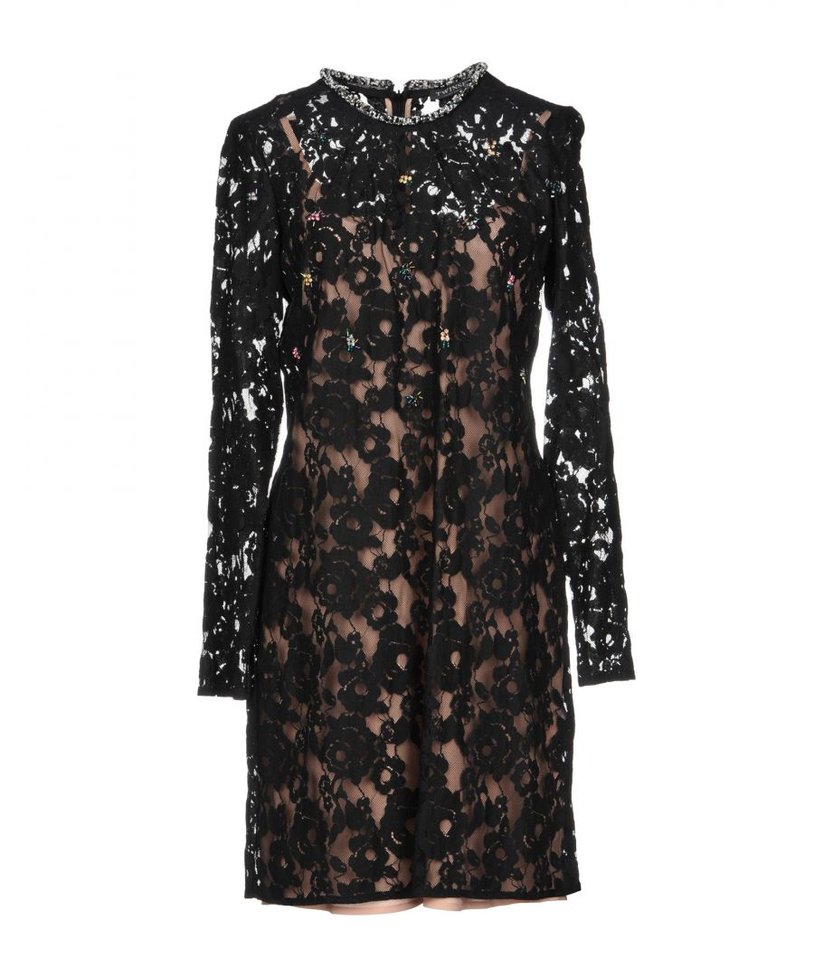 Image for Twinset Black Cotton Lace Long Sleeve Dress