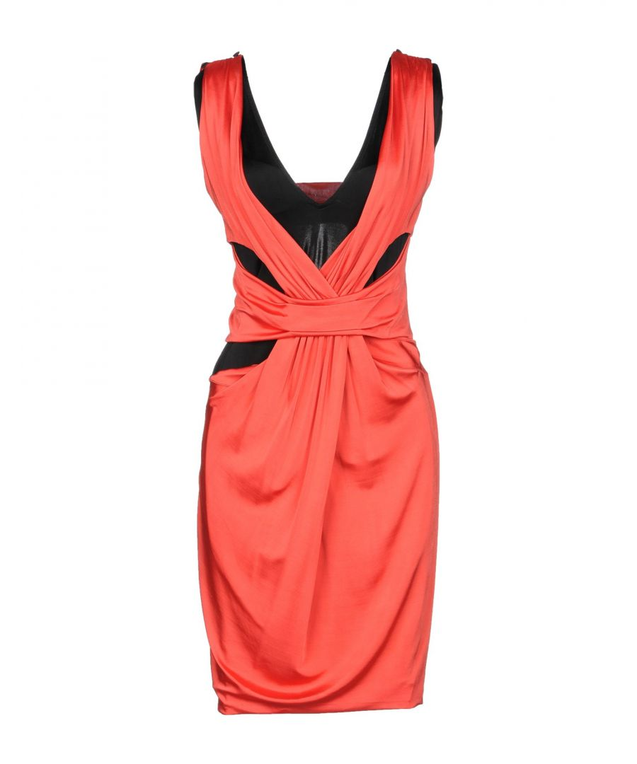 Image for Karl Lagerfeld Red Jersey Sleeveless Dress