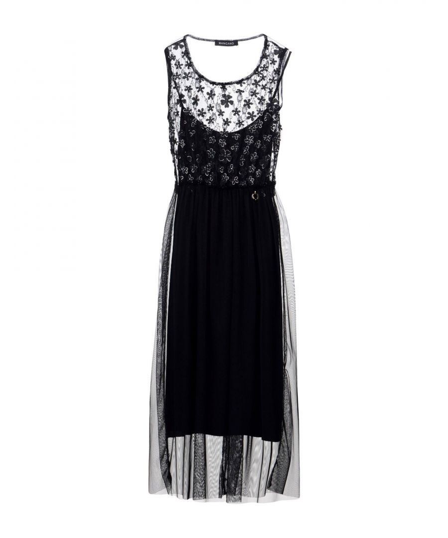 Image for Mangano Black Lace And Tulle Dress