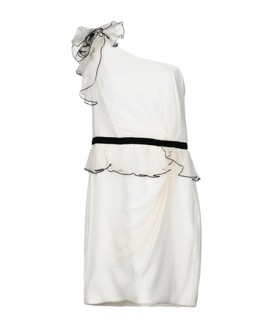 Image for Marchesa Notte Ivory One Shoulder Dress