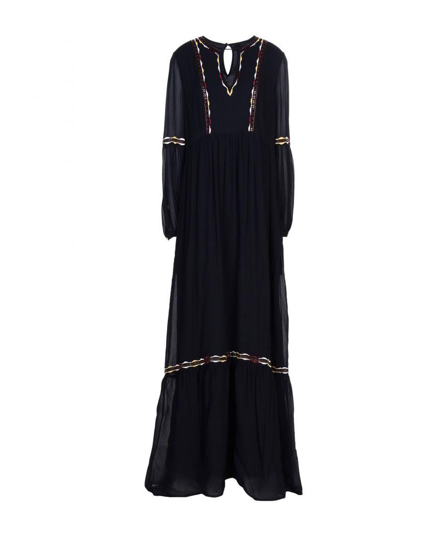 Image for Nenette Dark Blue Beaded Full Length Dress