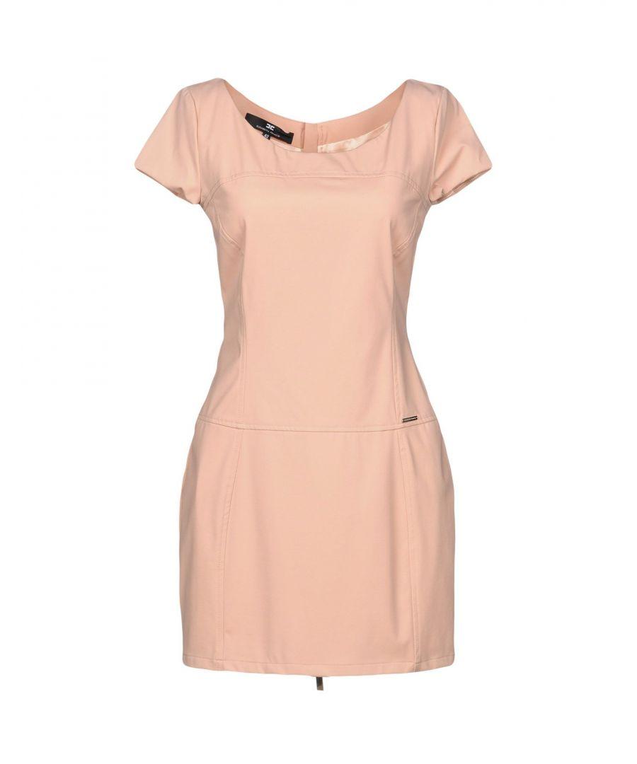 Image for Elisabetta Franchi Pink Short Sleeve Short Dress