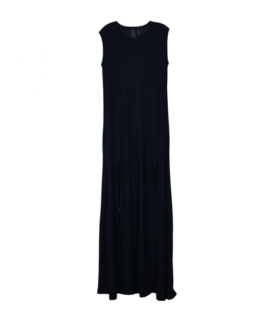 Image for Norma Kamali Dark Blue Belted Jersey Dress