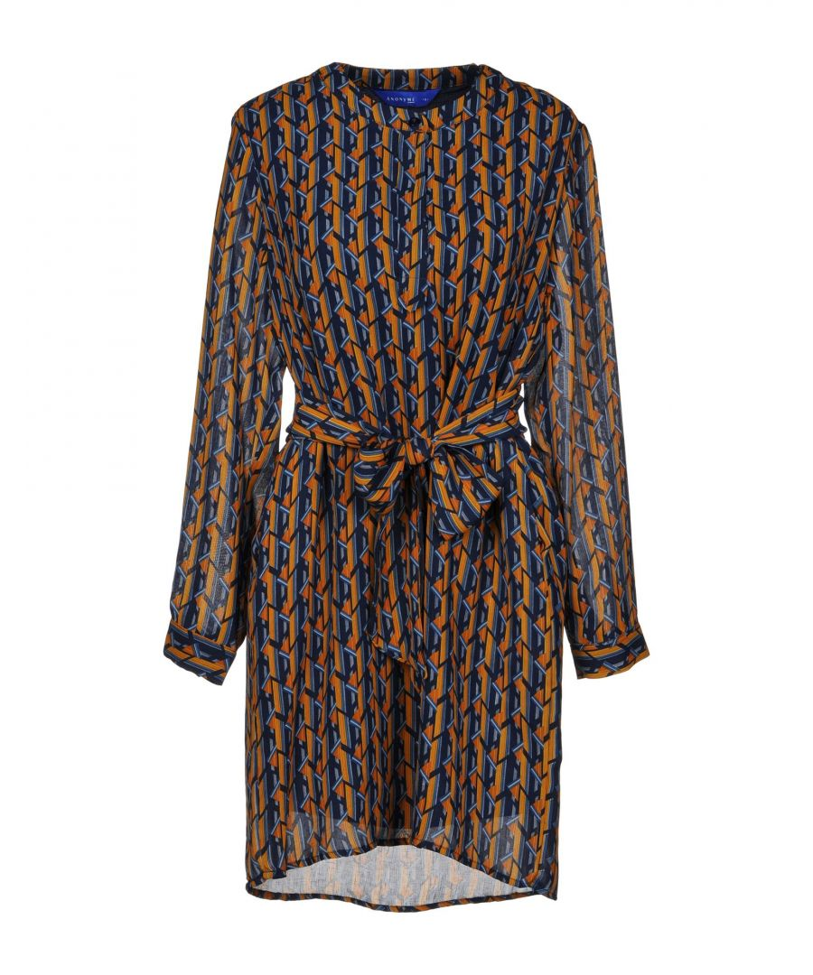Image for Anonyme Designers Dark Blue Print Crepe Dress