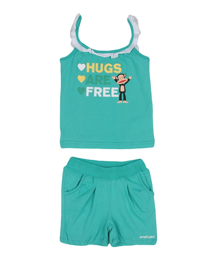 Image for BODYSUITS & SETS Girl Small Paul By Paul Frank Green Cotton