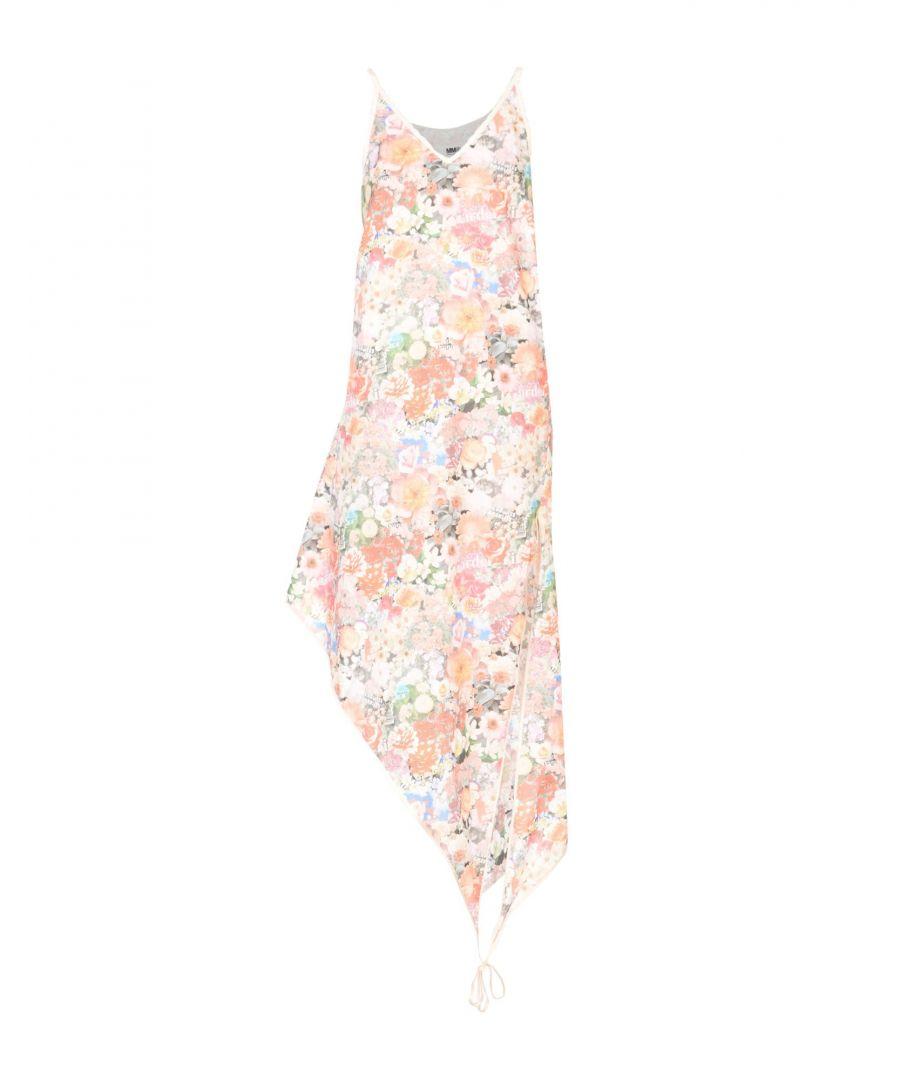 Image for MM6 Maison Margiela Pink Floral Print Cotton Slip Dress