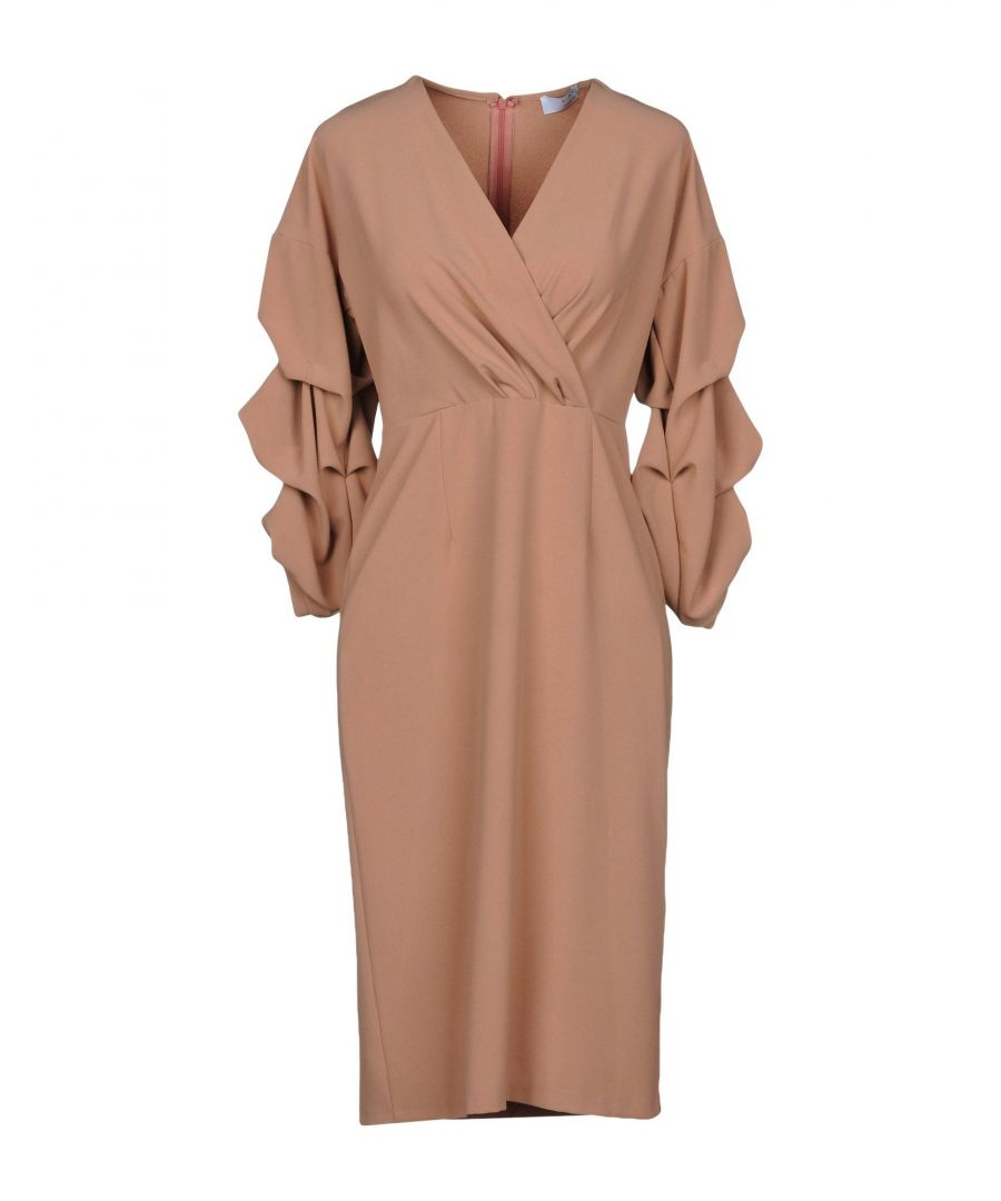 Image for Kaos Pastel Pink Long Sleeve Dress