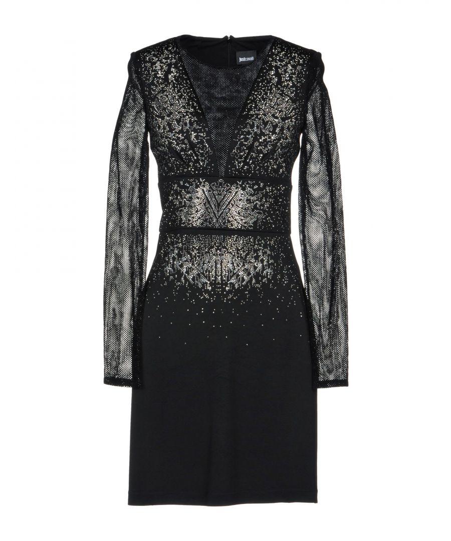 Image for Just Cavalli Black Embellished Long Sleeve Dress