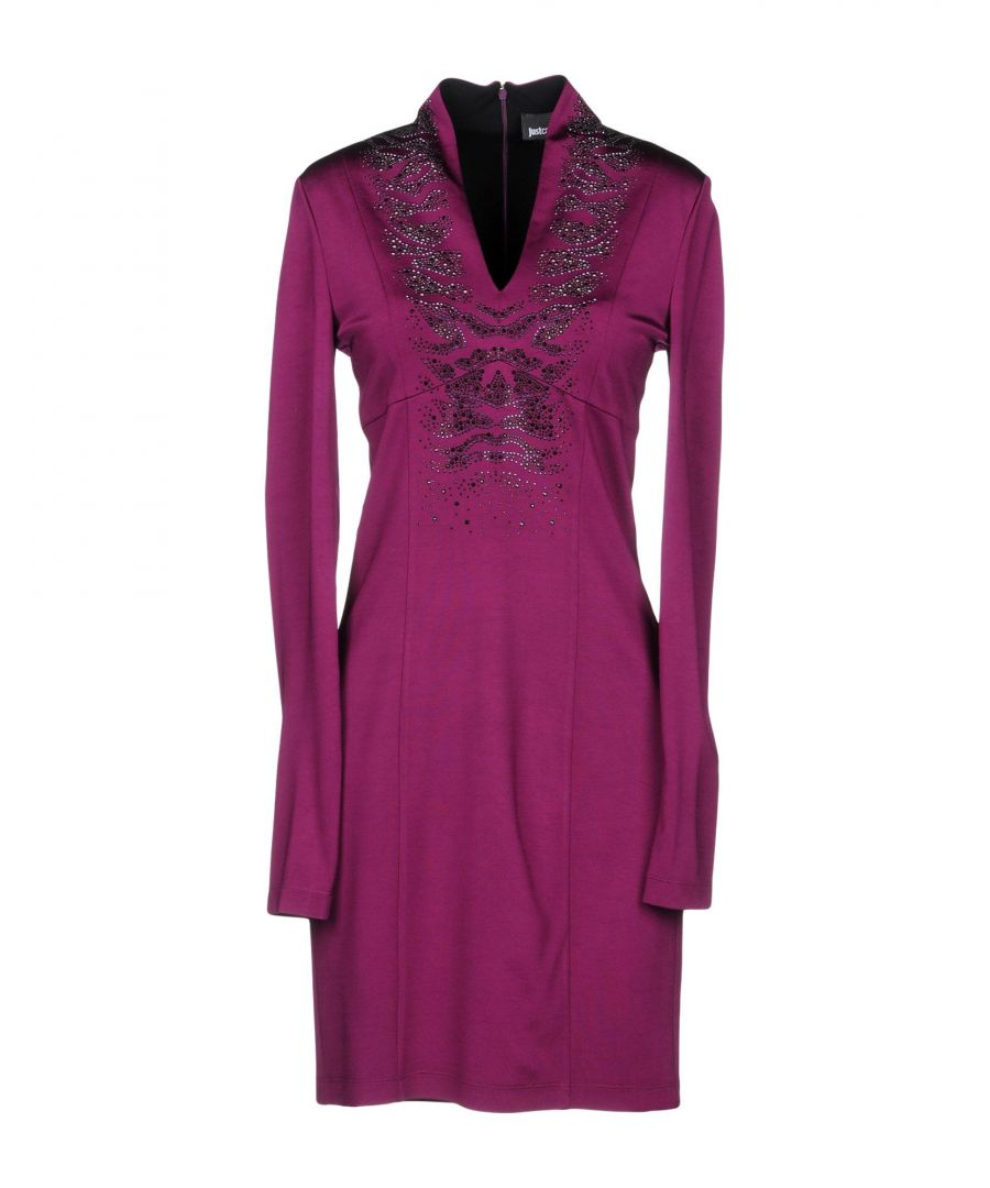 Image for Just Cavalli Mauve Long Sleeve Dress