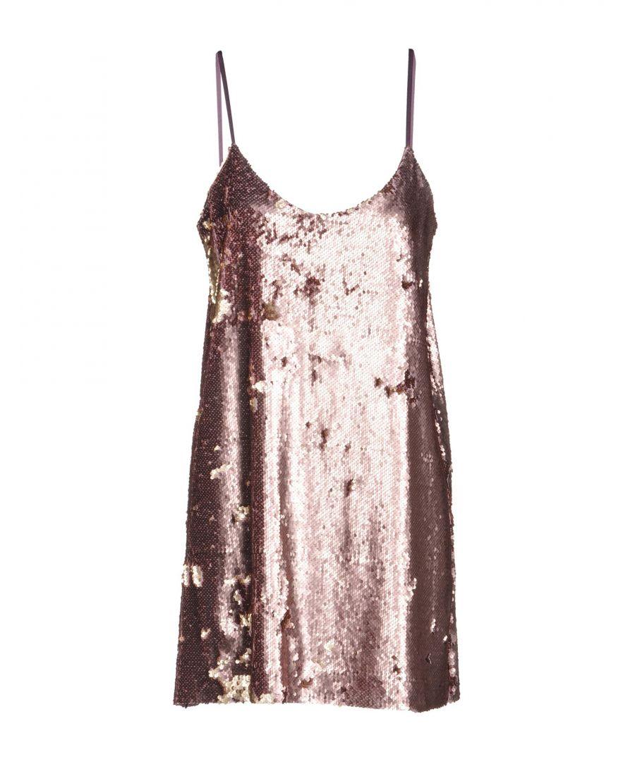 Image for Kaos Pastel Pink Sequin Slip Dress