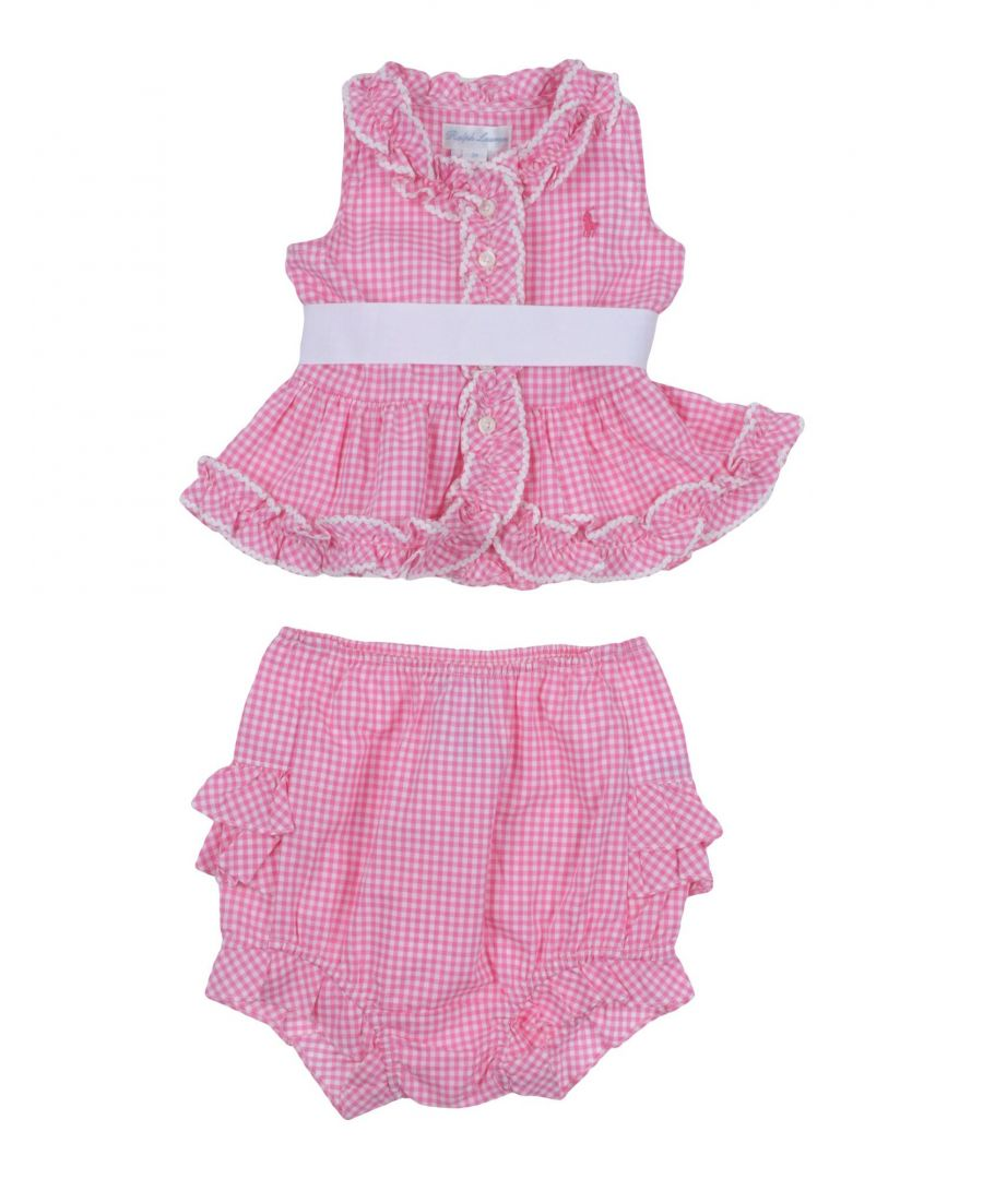 Image for BODYSUITS & SETS Girl Ralph Lauren Fuchsia Cotton