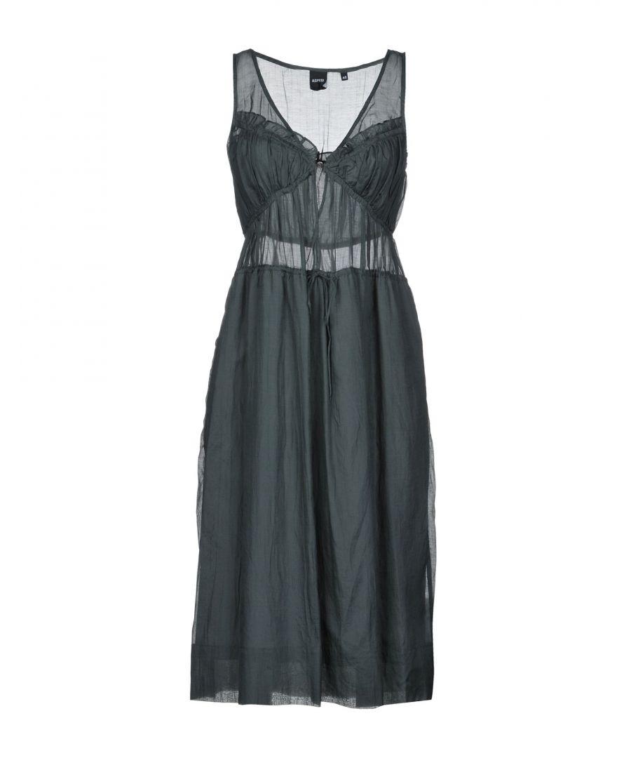 Image for Aspesi Lead Cotton Sleeveless Dress
