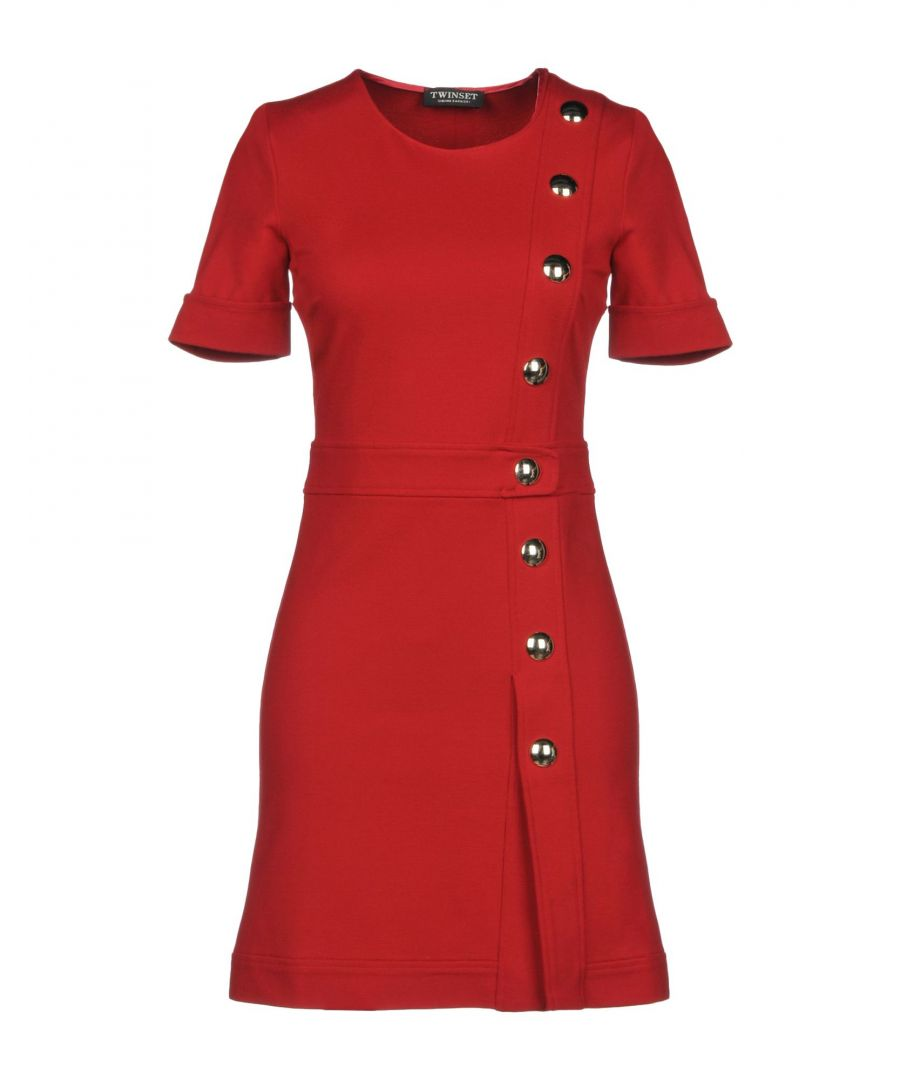 Image for Twinset Red Short Sleeve Dress