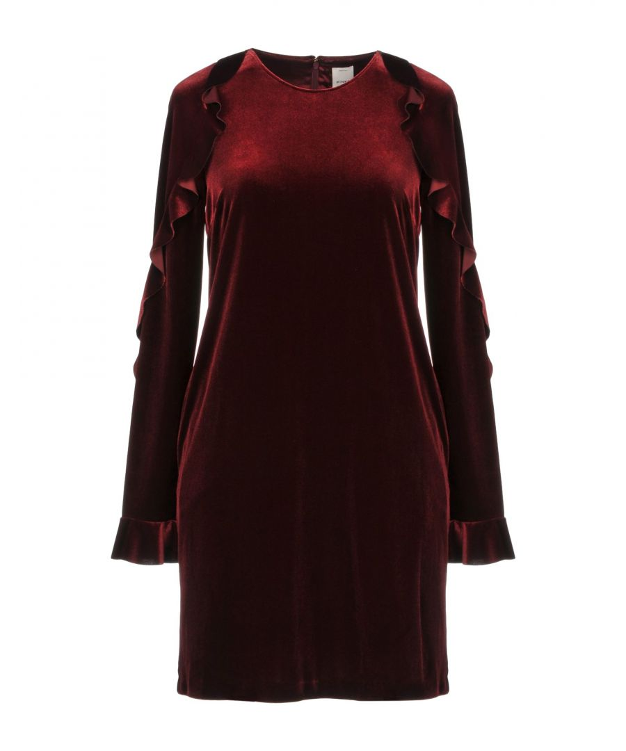 Image for Pinko Maroon Chenille Long Sleeve Dress