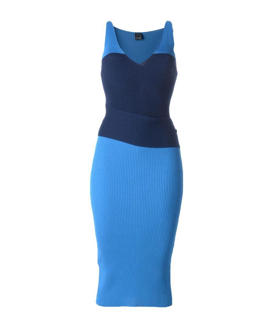 Image for Pinko Dark Blue Knit Sleeveless Dress