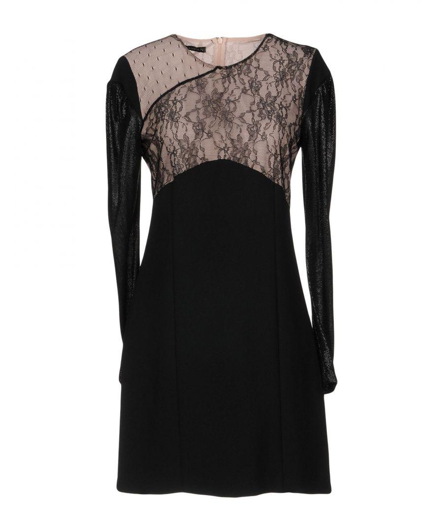 Image for Annarita N Black Lace Long Sleeve Dress