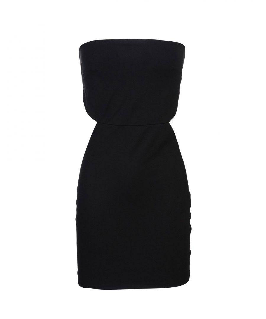 Image for Elisabetta Franchi Black Strapless Short Dress
