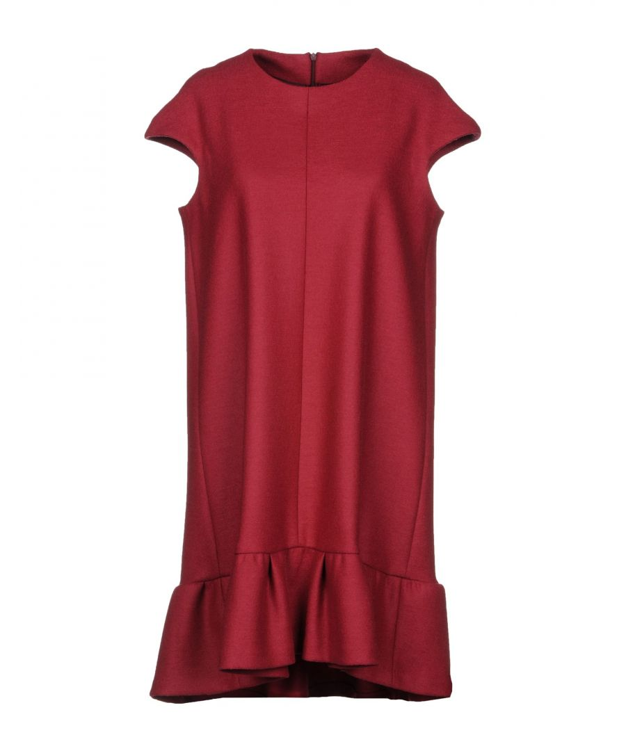 Image for Brian Dales Brick Red Wool Dress