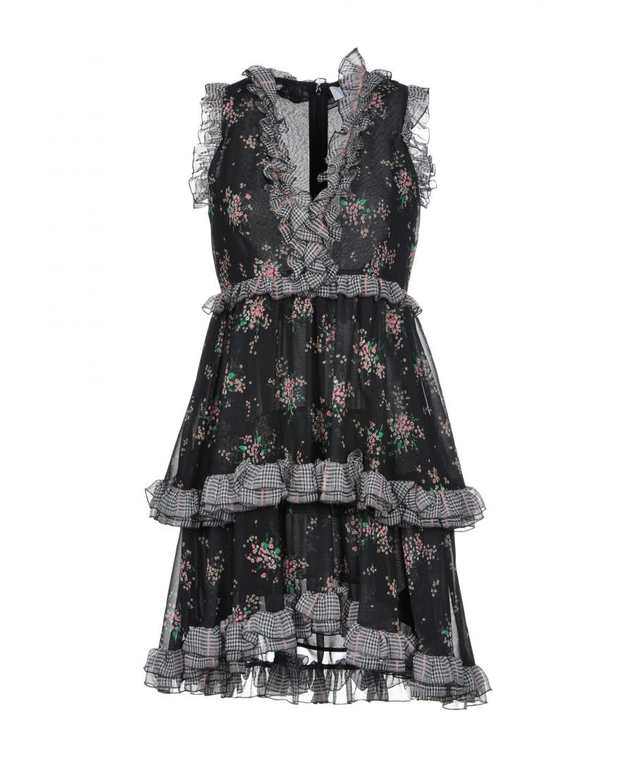 Image for MSGM Black Print Dress