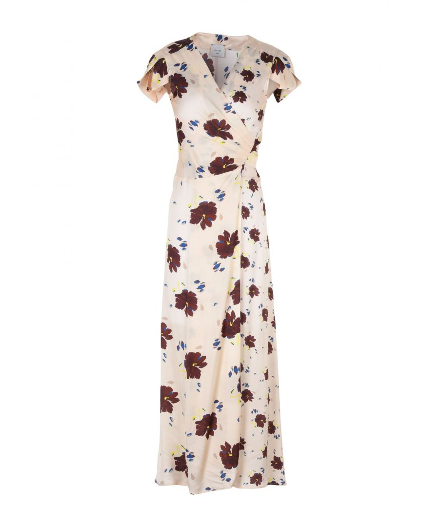 Image for Alysi Beige Print Full Length Dress